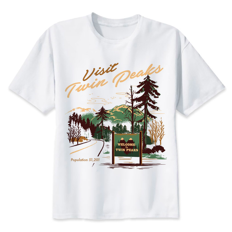 Twin Peaks t shirt Men Print T-Shirts Fashion Print T-Shirts Short Sleeve O Neck Tees mmr2283