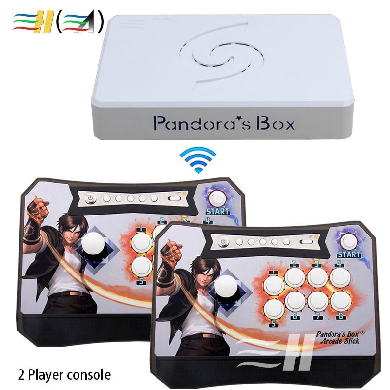 Pandora's Box 6 ασύρματο 1300 σε 1 κιτ ελεγκτή arcade παιχνιδιού για controlling arcade control κερματοδέκτη κερματοδέκτη 2 παίκτες