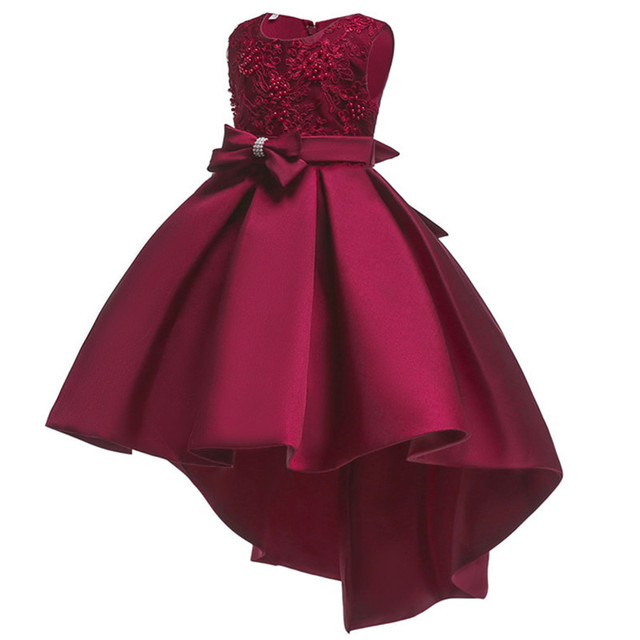 New pattern Girls Birthday Wedding Party Pageant Long Princess Dress Kid Christmas Costume Clothes Prom Dresses 4-14 years old 1