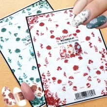 3d nail sticker Newest MGM-2506 drawing flower design Japan style decal Decoration tools