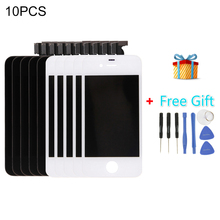 5 PCS Black + 5 PCS White iPartsBuy 3 in 1 for iPhone 4S (LCD + Frame + Touch Pad + Free Gift ) Digitizer Assembly