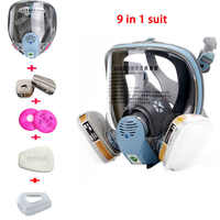 LYYSB 9 In 1 Suit Industry Painting Spraying Dust mask Same For 3 M 6800 Full Face Chemcial Respirator Gas mask With Filter
