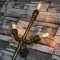 3 головки Американский Винтаж проходу промышленные водопровод бра светильники бар ресторан E27 Edison ретро украшения Освещение