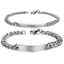 Fashion Men And Women Bracelet Titanium Steel Man Smooth Han