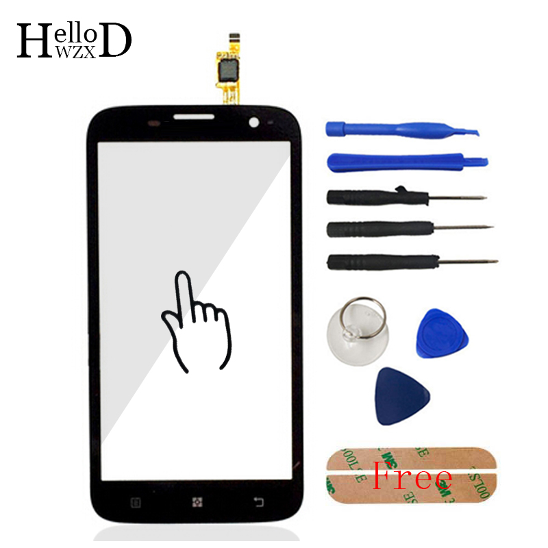 AAA Quality HighGlass Touch Glass For Lenovo A859 A 859 Touch Screen Digitizer Touch Panel Front Glass Lens Sensor Free Adhesive