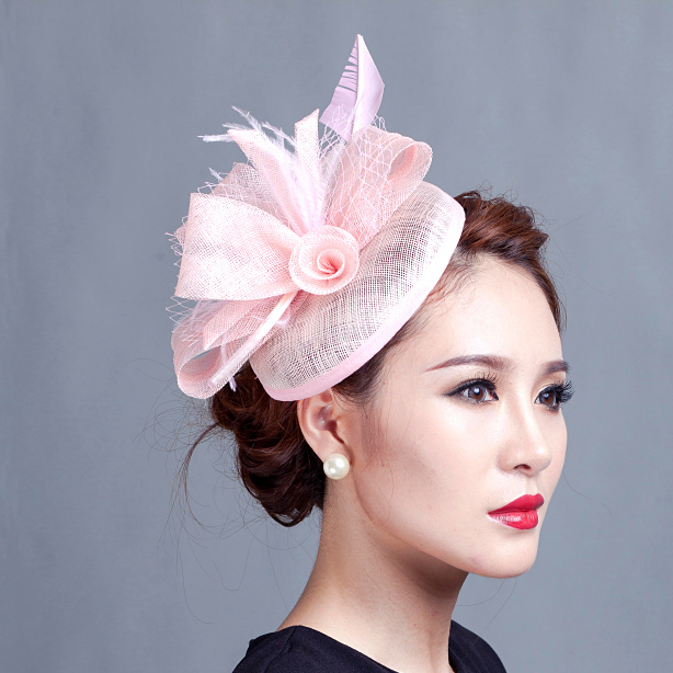 Women Purple Tail Hair Hat Fascinators Las Wedding Party Fascinator Race Hats With Feather In Accessories From S Clothing