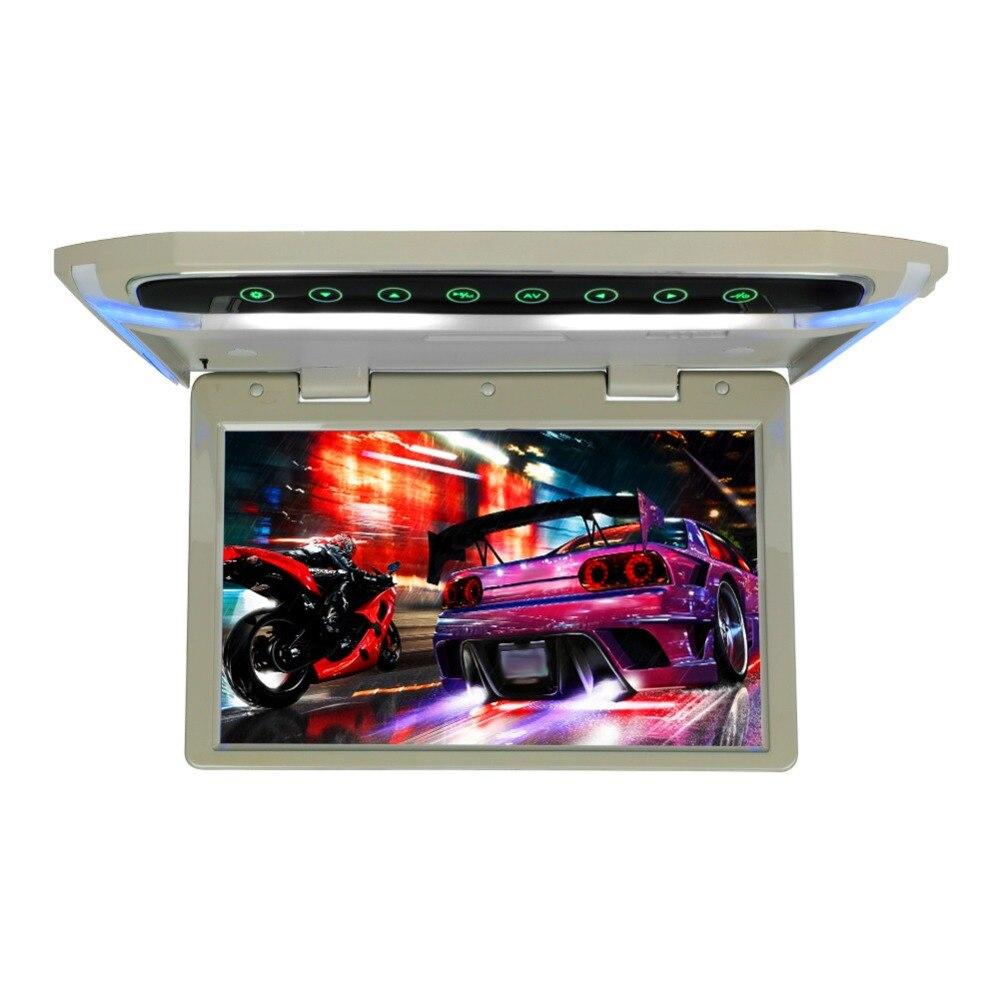 Потолочный монитор на крыше, 10 дюймов, 1080 P, ЖК дисплей, TFT экран, Автомобильный потолочный монитор, откидывающийся на крышу, монтируемый светодиодный дисплей, цифровой Широкоэкранный монитор - 4