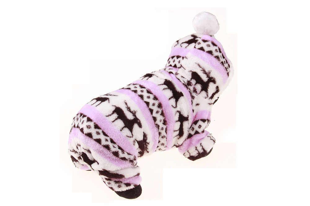 מעצב רך החורף חם לחיות מחמד כלב בגדים לחיות מחמד בגדי צבי כותנה גור כלבי מעיל חורף מעיל לכלבים קטנים סווטשירט ילדה
