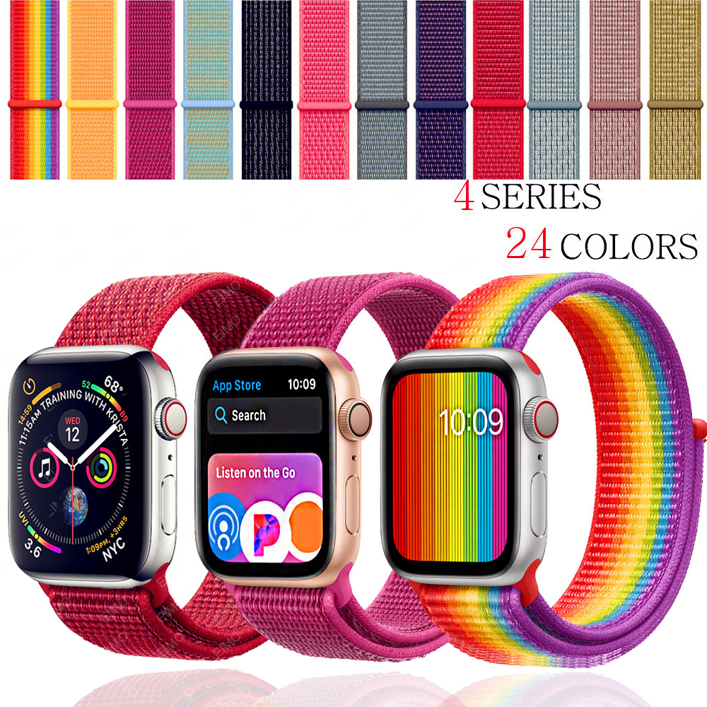 EIMO strap For Apple Watch band apple watch 4 3 iwatch band 42mm 44mm 38mm 40mm Sport Loop correa Nylon loop bracelet  Watchband(China)