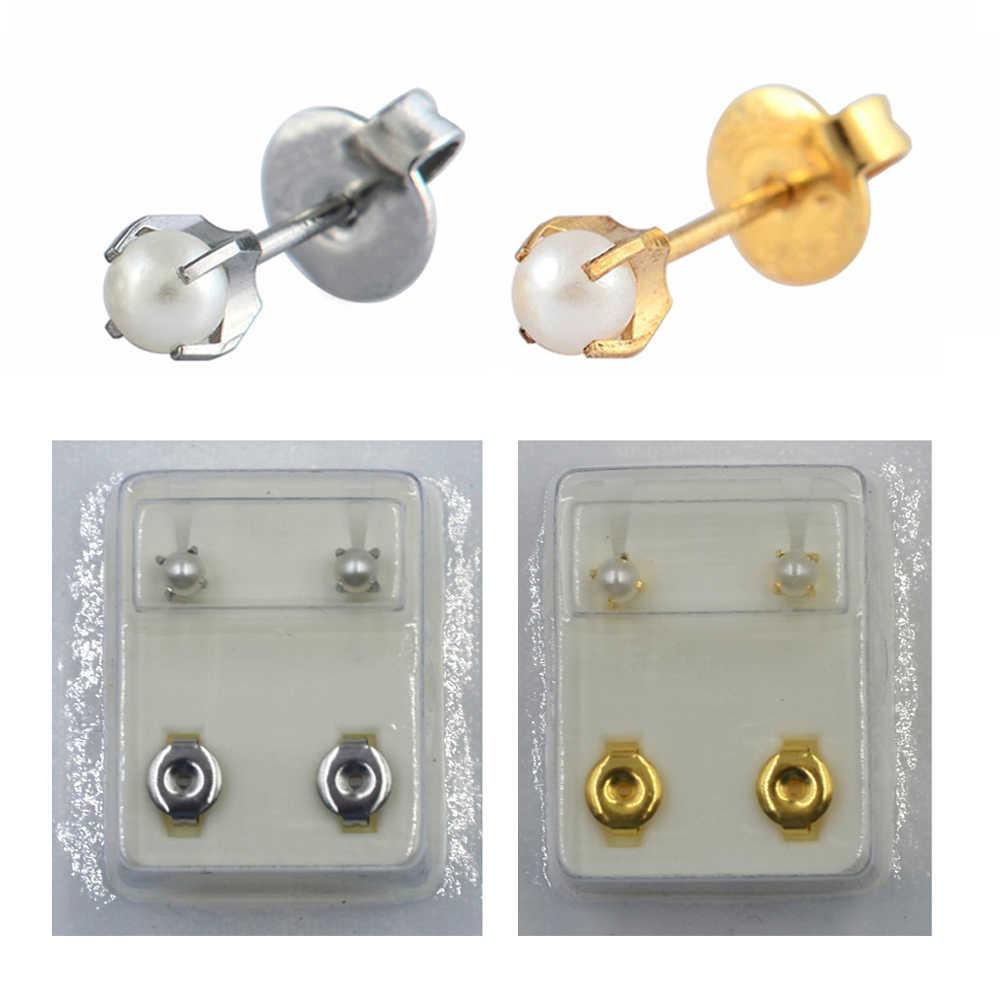 มุกสีขาวโอปอลสตั๊ด Ear Piercing Helix เครื่องประดับ Tragus กระดูกอ่อนต่างหู Studs ขายโดยคู่