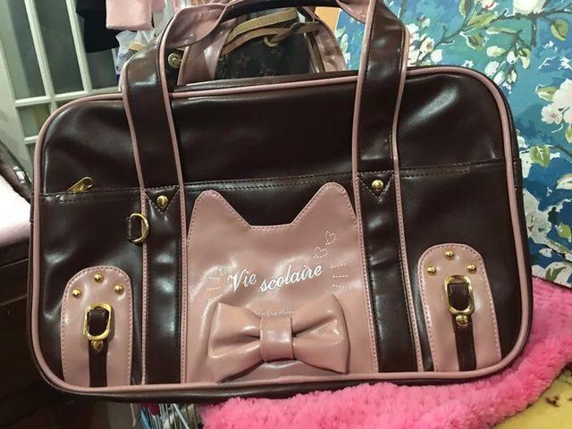 Adorable Japan Student Ladies Girls Lolita Student Cat Face Designer JK Uniform Handbag Cute Women Bag