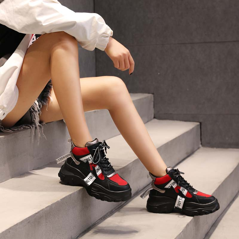 Jookrrix Casual Shoes Women Fashion Brand White Sneakers Lady chaussure Autumn Female footware 2018 Cross-tied Shoes Patchwork 5