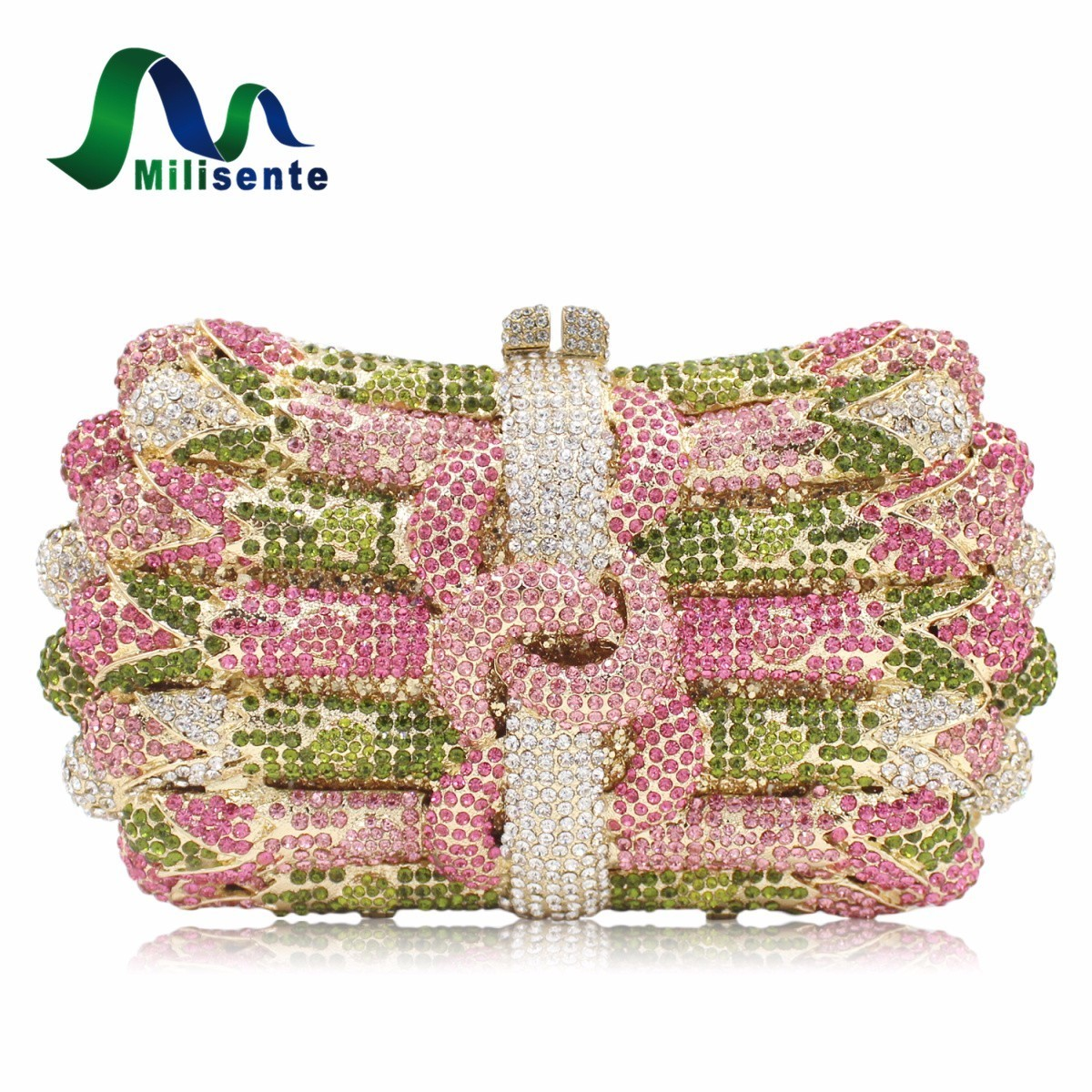 New Women Luxury Crystal Clutch Handbag Rhinestone Evening Bag Wedding Purse Party Gold Silver Pink women luxury rhinestone clutch evening handbag ladies crystal wedding purses dinner party bag bird flower purse zh a0296