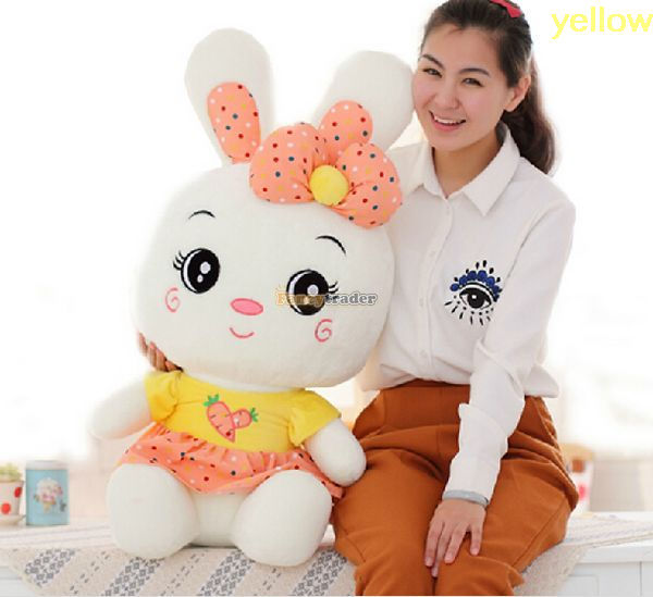 Fancytrader 31'' / 80cm Super Lovely Stuffed Soft Giant Plush Toy Rabbit Bunny, 3 Colors Available, Free Shipping FT50471 2pcs 12 30cm plush toy stuffed toy super quality soar goofy