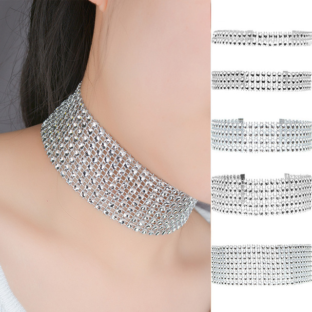 Necklace concave surface bright collar