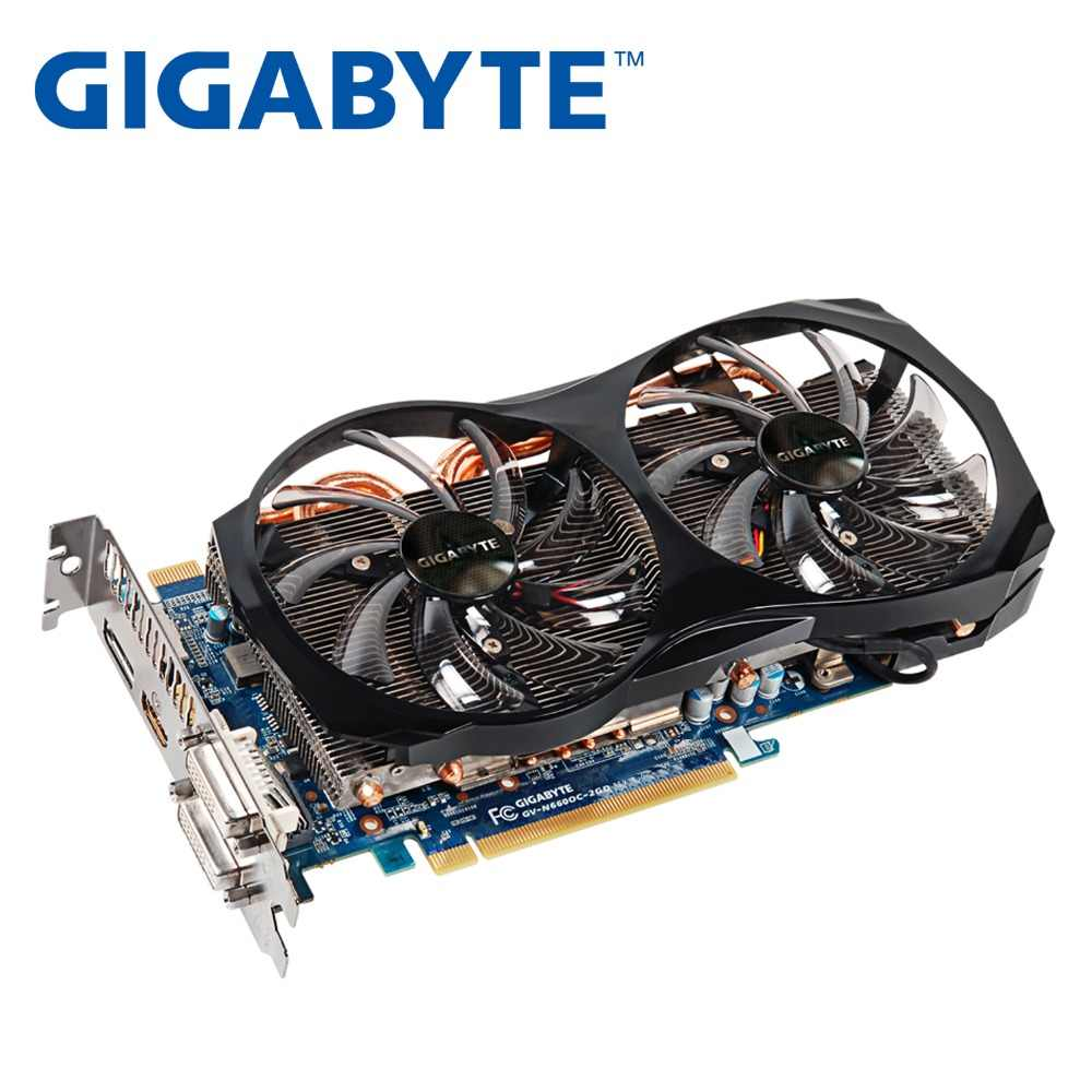 GIGABYTE Video Card GTX660 2GB 192Bit GDDR5 Graphics Cards for nVIDIA Geforce GTX 660 Used VGA Cards stronger than GTX 750 Ti