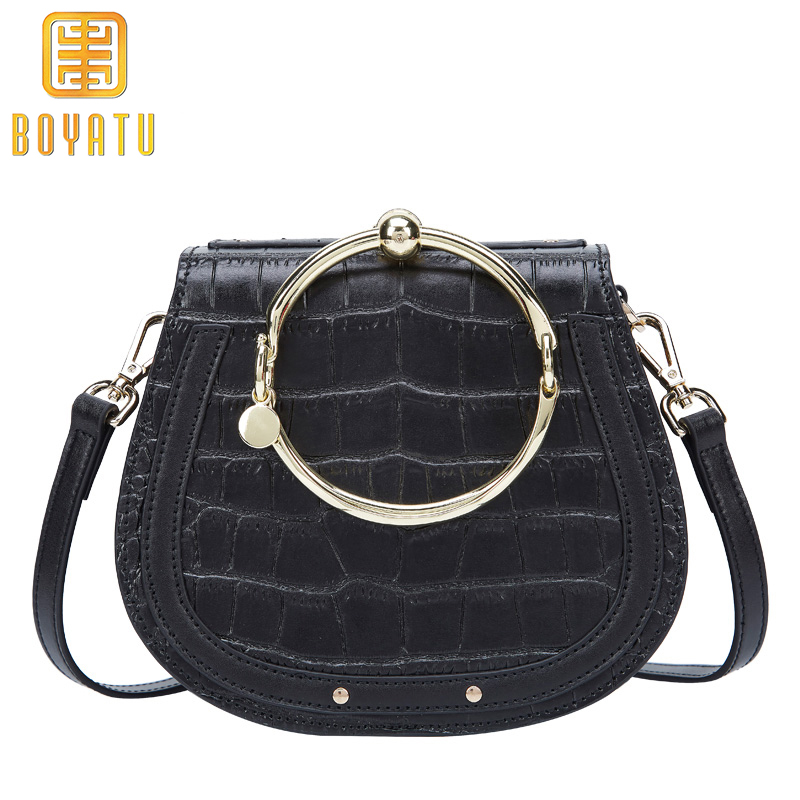 Small Genuine Leather Shoulder Bag Messenger Bag Women Luxury Handbags Women Bags Designer Top-handle Purse Sac A Main Brand 2018 genuine leather shoulder bag top handle bags women hobo sac one of the main handbags luxury designer women handbag tote bag