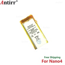Antirr Original new Replacement Battery For ipod Nano4 4G 4th Generation MP3 Li-Polymer Rechargeable Nano 4 616-0406 Batteries