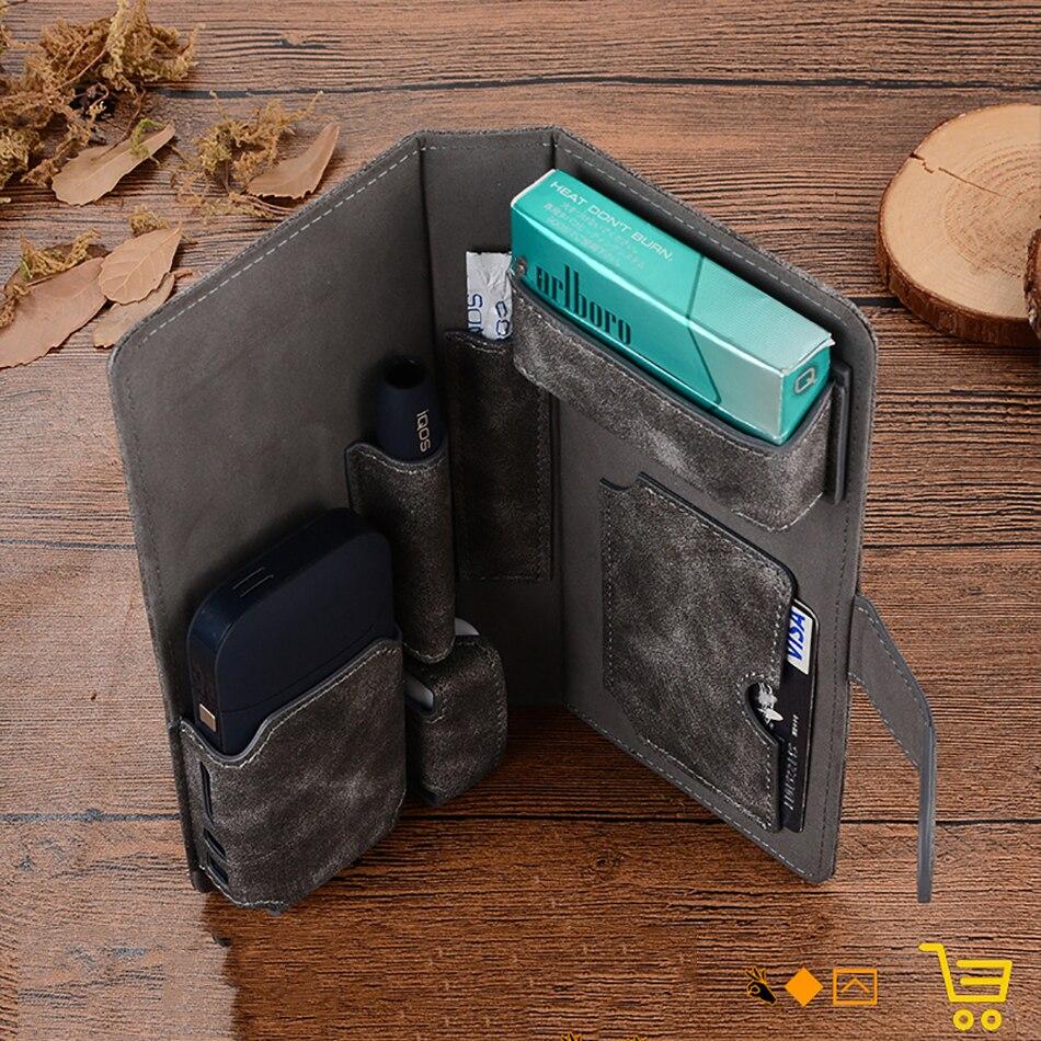 Япония электронная сигарета кожаный защитный чехол для IQOS искусственная кожа для IQOS 2,4 вейп комплект электронной сигареты чехол держатель Крышка|Аксессуары| | АлиЭкспресс