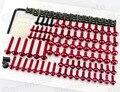 Rojo de aluminio kit tornillos tuercas sujetadores clips de adorno de la motocicleta de sportbike carenado para honda yamaha suzuki kawasaki