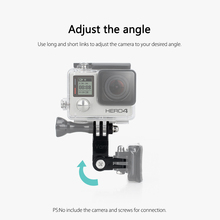 Vamson for Go Pro 5 Accessories Long Short Adjust Arm Straight Joints Mount For Gopro Hero 7 6 5 4 session 3+ VP113