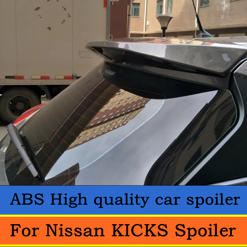For Nissan KICKS Spoiler ABS Plastic Painted Tail Trunk Lip Wing Primer Color Rear Spoiler For Nissan KICKS 2017 2018 Spoiler