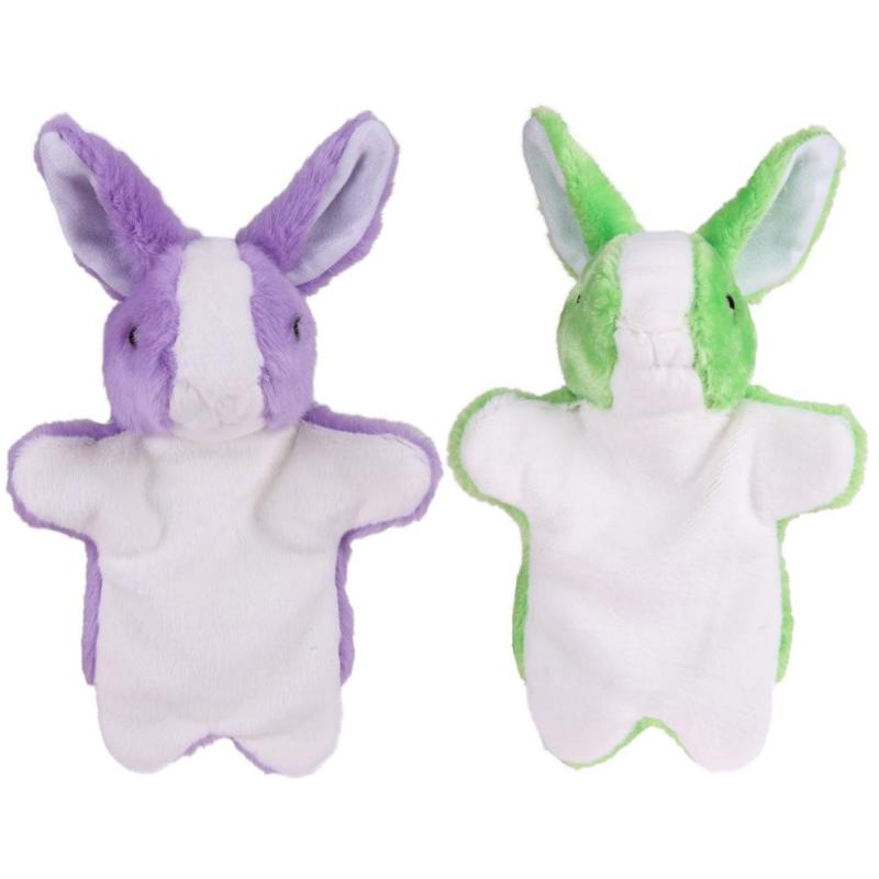 Baby Plush Toy Cute Bunny Hand Puppet Kids Early Education Plush Rabbit Doll Toy Gift Children Bed Story Learning Aids