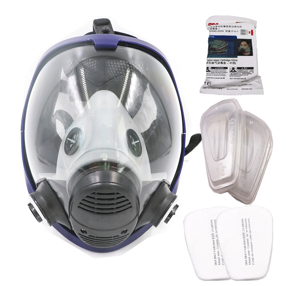 Gas Mask 7 Suits, Chemical Organic Gases And Vapors Mask Filter respirator Paint Mixing/Spray Graffiti,Construction,Renovation kitmmm6094mmm8200 value kit scotch photo mount spray adhesive mmm6094 and 3m n95 particle respirator 8200 mask mmm8200