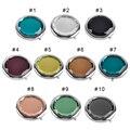 100 pcs Gravado Cosmetic Mirror Compact Cristal Ampliação Maquiagem Espelho de Presente de Casamento para Convidados Frete grátis