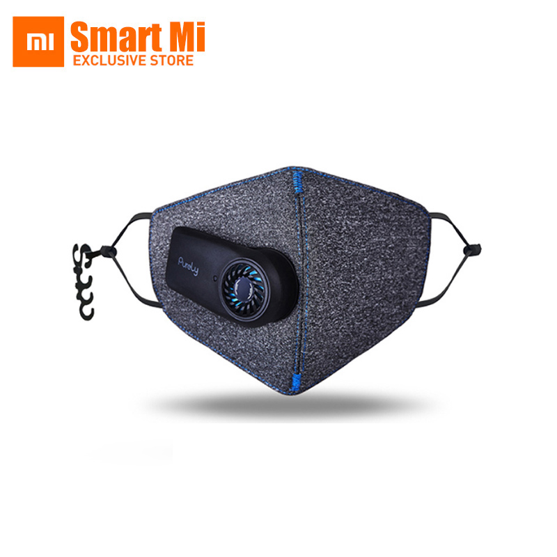 New Arrivel Xiaomi Purely Anti-Pollution Air Mask With PM2.5 550mAh Battreies Rechargeable Filter With Fan For Sport