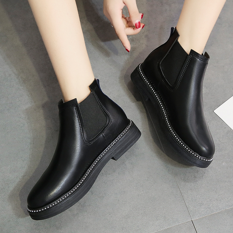 cae90981bf3b Moxxy Winter Shoes Women Chelsea Boots Rubber Boots Women Ankle Boots  Autumn Female Footwear Platform Boots Flats Shoes Woman-in Ankle Boots from  Shoes on ...