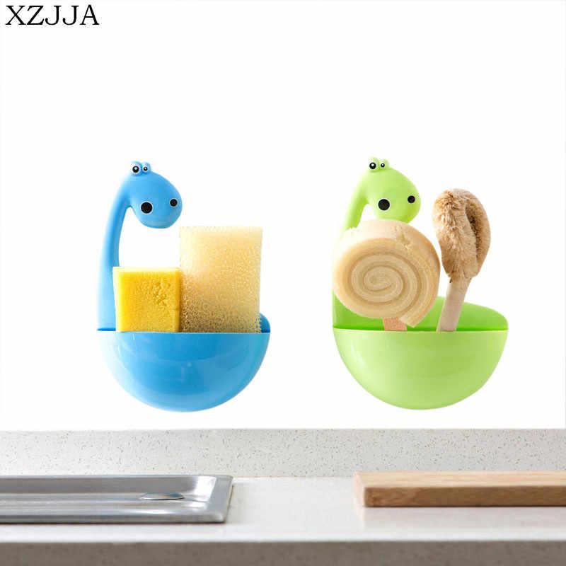 XZJJA Kreative Hohe Qualität Dinosaurier Sucker Zahnbürste Halter Bad Zubehör Organisieren Box Küche Gadgets Lagerung Rack