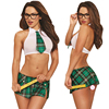 Weiweihu 2017 Sexy Lingerie Hot Cosplay Student Uniform Lingerie Set White Perspective Bra Red Plaid Skirt