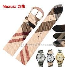 Nueva llegada nexuiz Irregular líneas de cuadrícula de La Pu venda de reloj correas de Reloj de Lujo relojes accesorios 18mm 20mm 22mm envío gratis