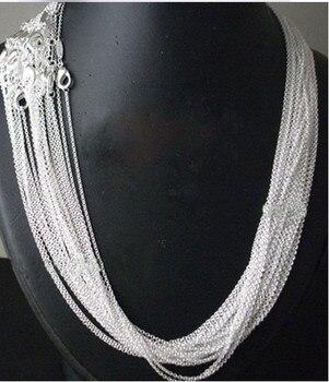 10 sztuk/partia Promocja! hurtownie 925 srebrny naszyjnik, srebrna biżuteria Srebrny Naszyjnik Łańcuch 1mm 16 18 20 22 24