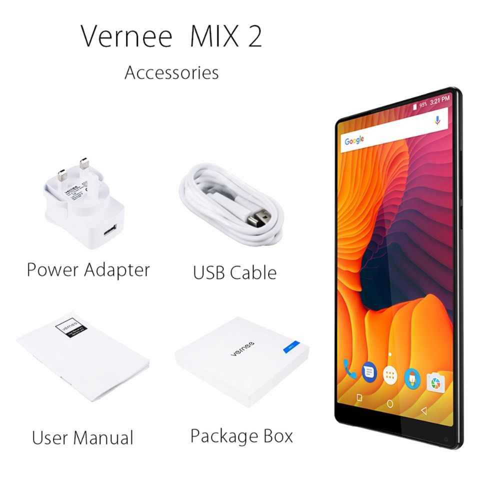 Vernee مزيج 2 الهاتف المحمول 4G RAM 64G ROM MTK6757 الثماني النواة 6.0 بوصة 18:9 عرض 13.0MP الروبوت 7.0 الذكي المزدوج عودة كاميرا