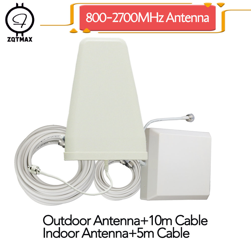 ZQTMAX 2g 3g 4g Antenna Set For CDMA GSM DCS PCS WCDMA Mobile Signal Booster For 1800 2100 2600MHz Lte Umts Cellular Amplifier