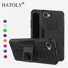 цена на HATOLY For Case LG Q6 Cover Soft Silicone & HyBrid Plastic Back Case For LG Q6 Case For LG Q6 Q6A M700 Fundas 5.5