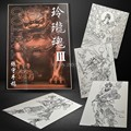 Top Quality Selected Typical Oriental  Linglong Soul Nice Design Colorful Tattoo Book Flash Manuscript Sketch 75 Pages A4 Size