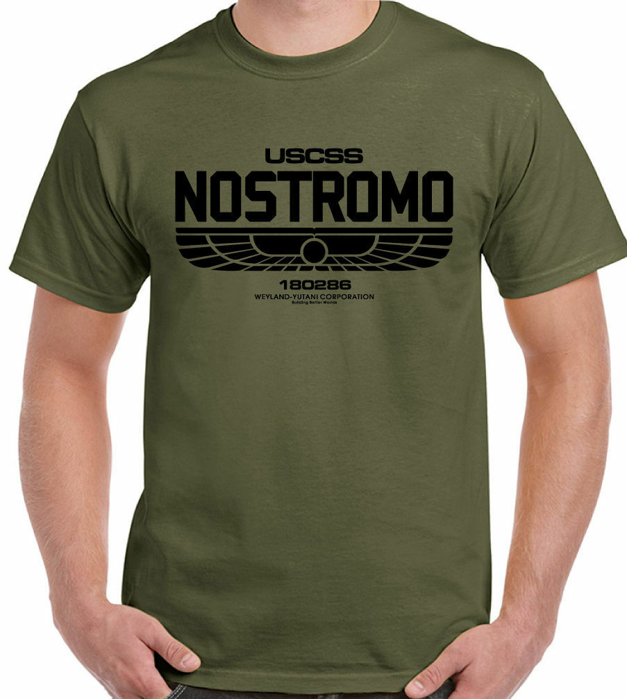 Nostromo 180286 - Mens T-Shirt Alien Film Movie USCSS Weyland-Yutani Sci-fi