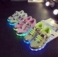 Nova criança sapato esportivo levaram tênis bebê menina menino iluminar brilhante recarregável usb shoe for kids menina menino criança calçado shoes