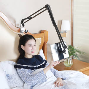 Adjustable Bed Tablet Stand 110cm Arm Universal Rotating Desktop Table Holder Hands Free Cell Phone Bracket for iPad 3.5-10.6''