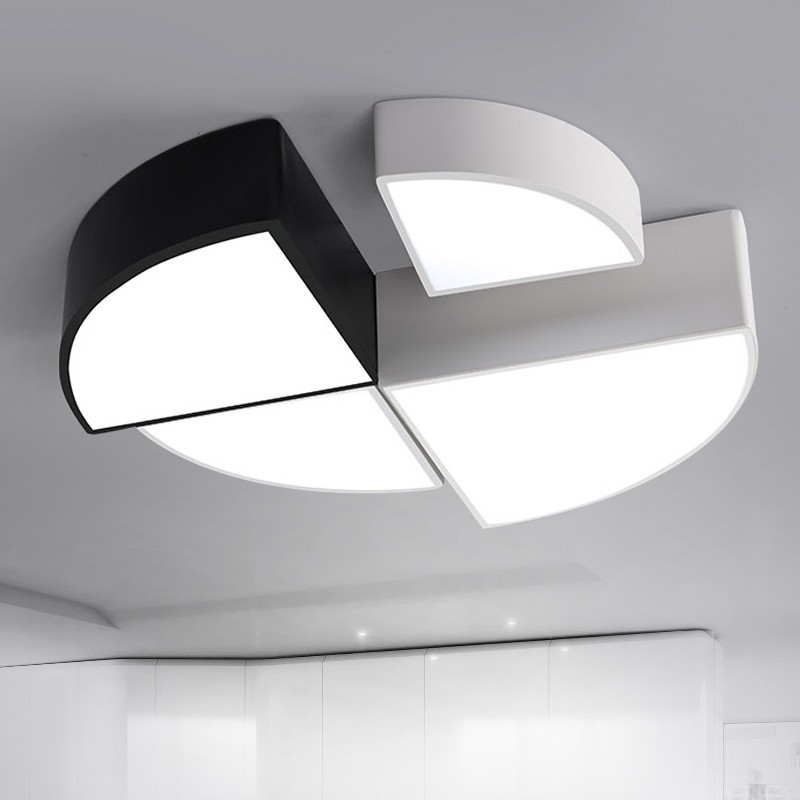 Surface mounted modern led ceiling lights for living room bedroom lamparas de techo colgante led ceiling lamp fixture luminaire modern led ceiling lights for indoor lighting plafon led square ceiling lamp fixture for living room bedroom lamparas de techo