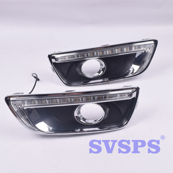 High Quality Tuning Parts Daytime Running Lights Fog Lights Modified Highlights For Chevrolet Chevy Malibu 2012-2015