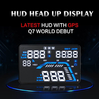 5.5 Inch GPS Head Up Display Car HD Auto GPS Speedometers Over speed Warning Windshield Projector Universal Car Electronics Q7
