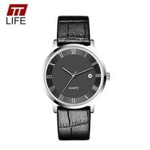 2016 Nueva Marca TTLIFE Reloj de Cuarzo Mujer Moda Delgado 7mm Relojes de Los Hombres Relojes de Primeras Marcas de Lujo de Los Hombres de Negocios reloj de cuarzo Reloj
