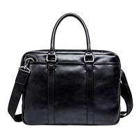 2019 Promotion Simple Business Messenger Men Briefcase Bag Leather Computer Laptop Handbag Men's Travel Bags handbags bolsa