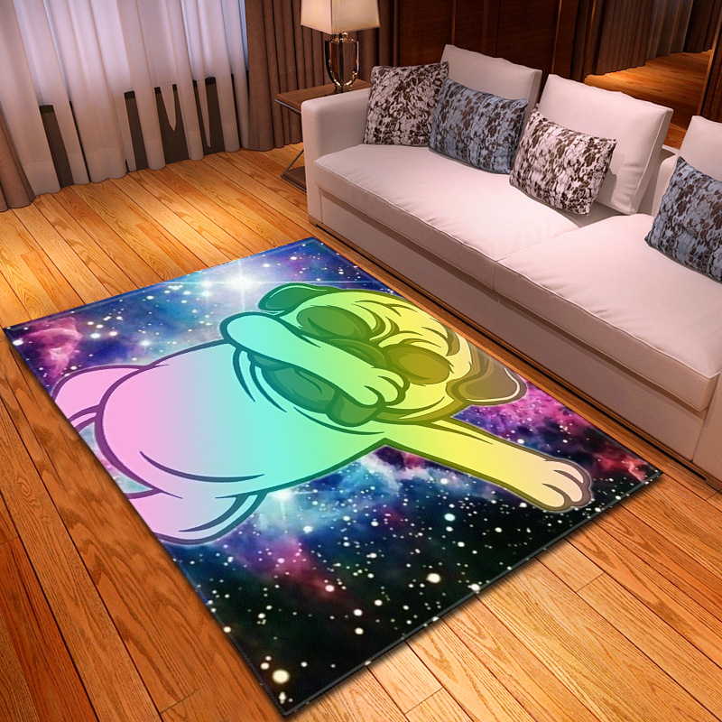 Soft Flannel Carpet 3D Colour Cartoon Printed Kids Room Area Rugs Hallway Anti-slip Mat Large Size Carpets For Living Room Decor