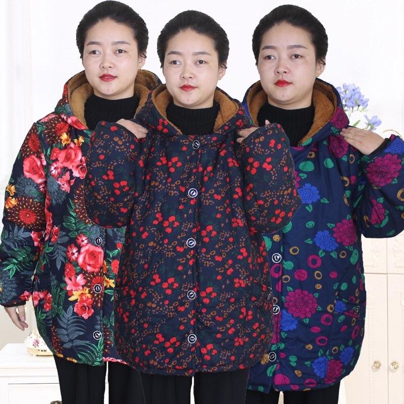 4 Capuchon Vieille Mère De Veste S8myjrjh 2 Plus Vêtements Manteau 3 Coton 5 pattern 6 pattern Pattern À pattern 1 pattern Lâche 2018 pattern Velours Féminins Nouveau Sqv7x7
