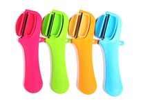 Zeegle Mini Hanging Type Magnet Fruit Slicer Portable Carrot Potato Peeler Salad Vegetables Peelers Kitchen Accessories